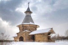 Snowfall in Kolomenskoye Stock Photos