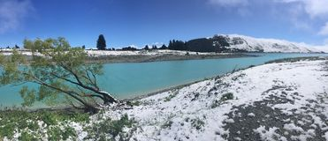 Snowfall Lake Tekapo, New Zealand Stock Photography