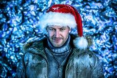 Snowfall man Royalty Free Stock Image