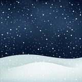 Snowfall night background Royalty Free Stock Photography