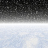 Snowfall on a night sky Stock Image
