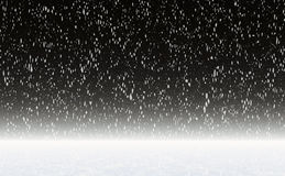 Snowfall on a night sky Royalty Free Stock Image