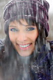 Snowfall portrait Royalty Free Stock Images