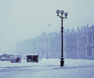 Snowfall in Saint-Petersburg Stock Photography
