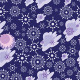 Snowfall. Seamless pattern. Stock Images