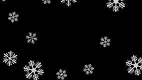 Snowfall seamless video loop stock footage