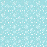 Snowfall and snowflakes pattern Stock Photo