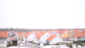 Snowfall in the suburbs stock video footage