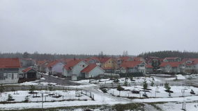 Snowfall in the suburbs stock footage