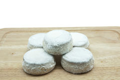 Snowfall sugar cookies Royalty Free Stock Image