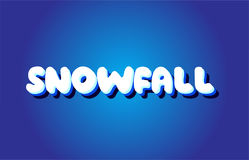 Snowfall text 3d blue white concept vector design logo icon Stock Photography