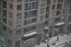 Snowfall in Toronto, Canada Stock Images