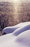 Snowfall in the valley Royalty Free Stock Photos