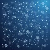 Snowfall in winter Royalty Free Stock Images