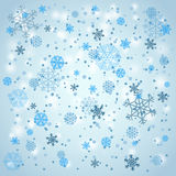 Snowfall in winter Royalty Free Stock Image