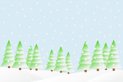 Snowfall in the winter forest. Stock Photo