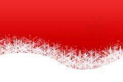 Snowfalling на белизне Стоковая Фотография