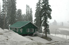 Snowfalls at Kashmir. Snowfalls at the gulmarg of Kashmir during rainy season Stock Photography