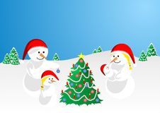 Snowfamily Fotos de Stock Royalty Free