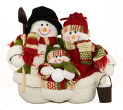 Snowfamily Royalty Free Stock Photos