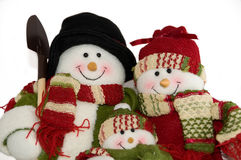 Snowfamily Royalty Free Stock Image