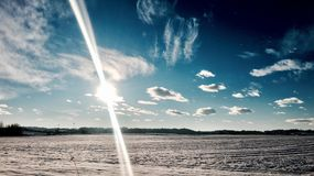 snowfield Photographie stock