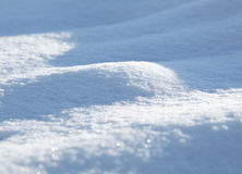Snowfield curvy surface Royalty Free Stock Images