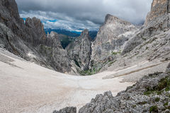 Snowfield in the Dolomites Stock Photo
