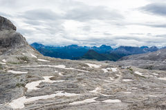 Snowfield in the Dolomites Royalty Free Stock Image