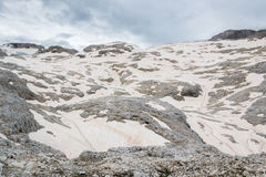 Snowfield in the Dolomites Stock Photos