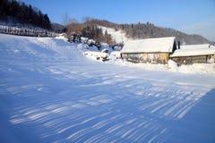 Snowfield em China Foto de Stock