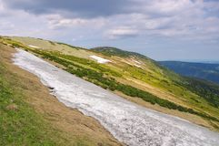 Snowfield in Giant Mountains Stock Photography