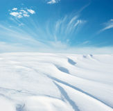 Snowfield sky Royalty Free Stock Images