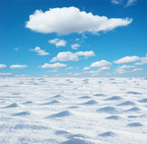 Snowfield sky Stock Photos