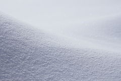 Snowfield in winter Stock Photos