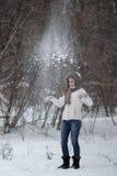 Snowfight photos libres de droits