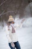 Snowfight images libres de droits