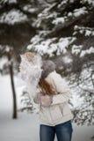 Snowfight image libre de droits