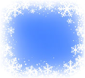Snowfkakes Feld Stockfoto