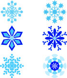 Snowflackes Illustrations. Isolated blue snowflakes illustrations, snow, winter decoration, seasonal decoration Royalty Free Stock Photo