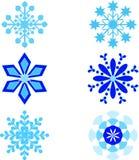Snowflackes ilustracje Zdjęcie Royalty Free