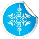 Snowflage sticker Stock Images