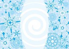 snowflake απεικόνισης ανασκόπηση& Στοκ Φωτογραφία