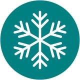 Snowflake απλή διανυσματική απεικόνιση εικονιδίων στο πράσινο υπόβαθρο ελεύθερη απεικόνιση δικαιώματος