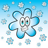 Snowflake αστείων Χριστουγέννων και του νέου έτους Στοκ φωτογραφία με δικαίωμα ελεύθερης χρήσης