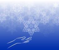 Snowflake αφής υπόβαθρο Στοκ φωτογραφία με δικαίωμα ελεύθερης χρήσης