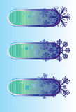 snowflake αφισών χειμώνας Στοκ φωτογραφία με δικαίωμα ελεύθερης χρήσης