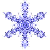 Snowflake γραφικό σχέδιο συμβόλων σημαδιών εικονιδίων Μπλε snowflake που απομονώνεται στο άσπρο υπόβαθρο Υψηλή διάλυση διανυσματική απεικόνιση