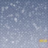Snowflake διάνυσμα Μειωμένη πτώση χιονιού Χριστουγέννων Snowflak απεικόνιση αποθεμάτων
