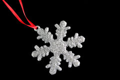 snowflake διακοσμήσεων Στοκ φωτογραφία με δικαίωμα ελεύθερης χρήσης